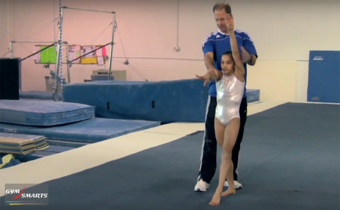 Gymnastics drills - Tony Gehman, squaring your round-off