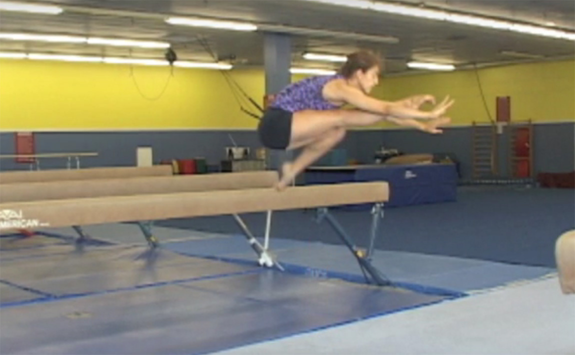 Gymnastics drills - Langley, wolf jump